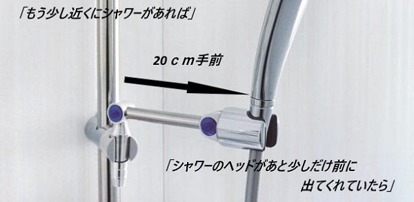 BV SHOWER ARM 20cm手前